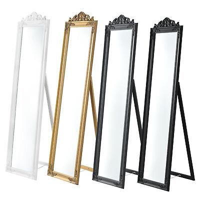 [en.casa] Standspiegel Ankleidespiegel Spiegel Barock Landhausstil 160x40cm