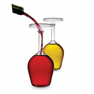 Set of 2 Upside Down Wine Glass's (Share a Whole Bottle of Wine )