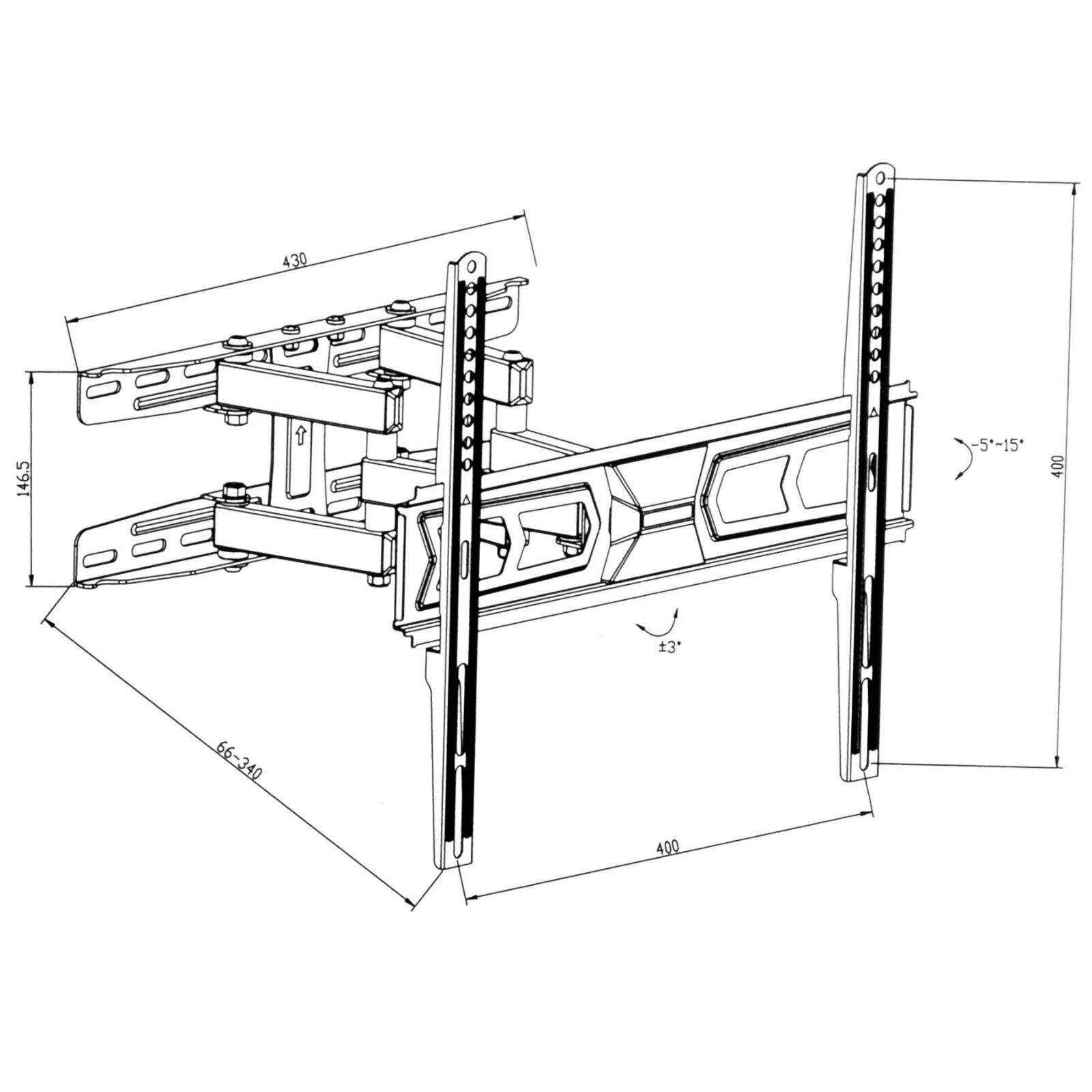 lcd led tv fernseher wandhalter wandhalterung neigbar schwenkbar 32 55 zoll eur 30 99. Black Bedroom Furniture Sets. Home Design Ideas