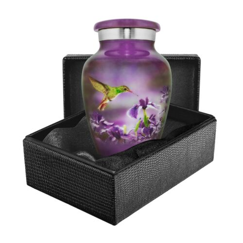 Natures Peace Hummingbird Small Keepsake Urn for Human Ashes - Qnty 1- With Case