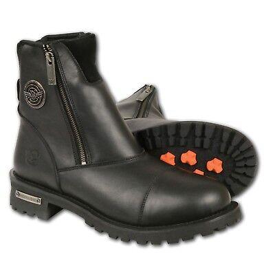 Milwaukee Leather Men's Super Clean Look Double Sided Zipper Biker Boot **MBM102 (Super Zipper Boots)
