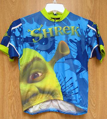 NEW Canari Shrek Kids Short Sleeve Cycling Bike Jersey Blue Youth L - Shrek Kids