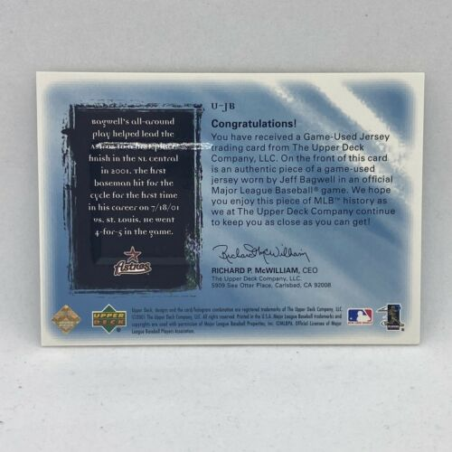 2001 Mets Ultimate Collection Game Jersey U-JB Jeff Bagwell Jersey /150 - $9.99