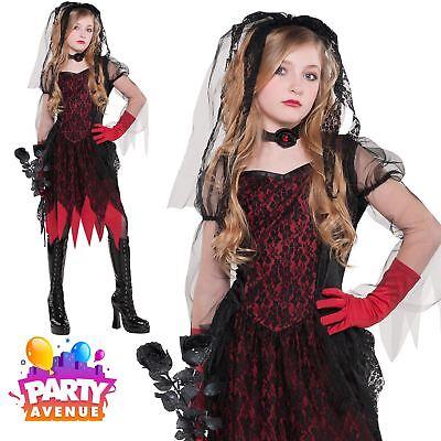 Children Teen Deadly Wed Zombie Costume Ghost Bride Halloween Costume](Zombie Costume Teenage Girl)