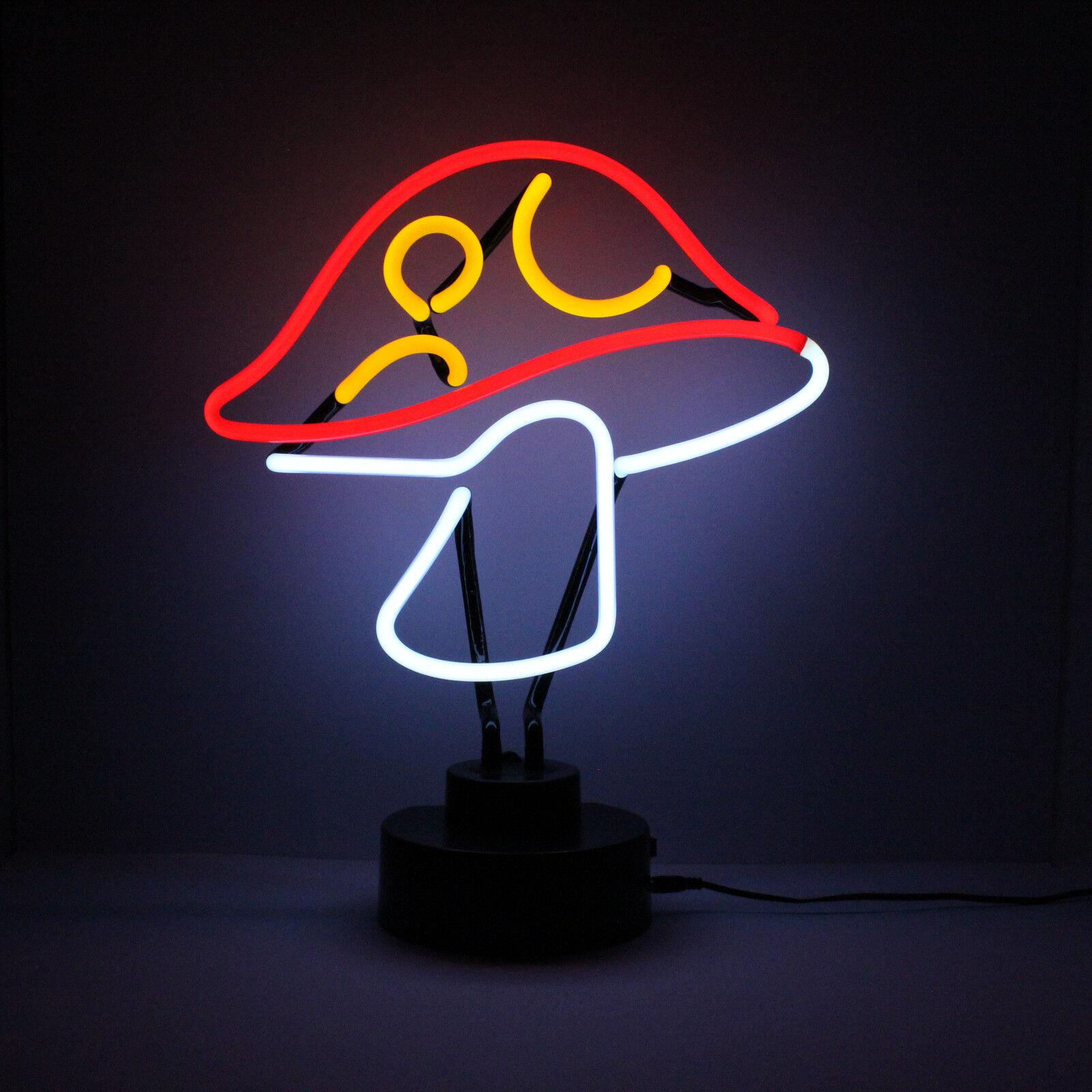 Lampade Al Neon Da Parete dettagli su luce al neon scultura fungo mensola muro lampada da comodino  lettura ristorante segno uk- mostra il titolo originale