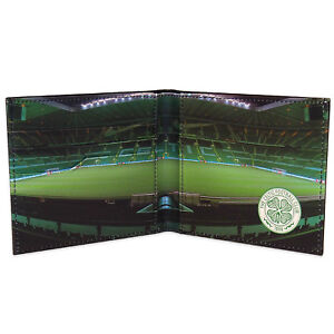 Celtic FC Official Football Gift Embossed Crest Stadium Wallet Black