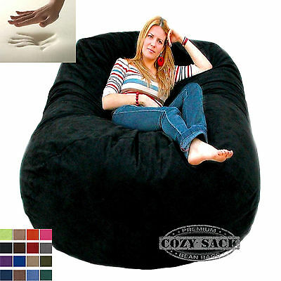 Buy Bean Bag Chairs (Giant Bean Bag Chair 6' Cozy Foam Filled By Cozy Sack Buy Factory)