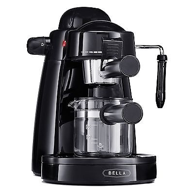Espresso Coffee Machine Capuccino Latte Maker Steam Out Frothing 4 Cup Black