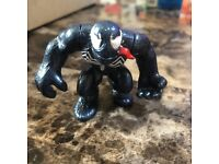Marvel Super Hero Squad RARE Variant Black Suit SPIDER-MAN Silver Emblem /& Eyes