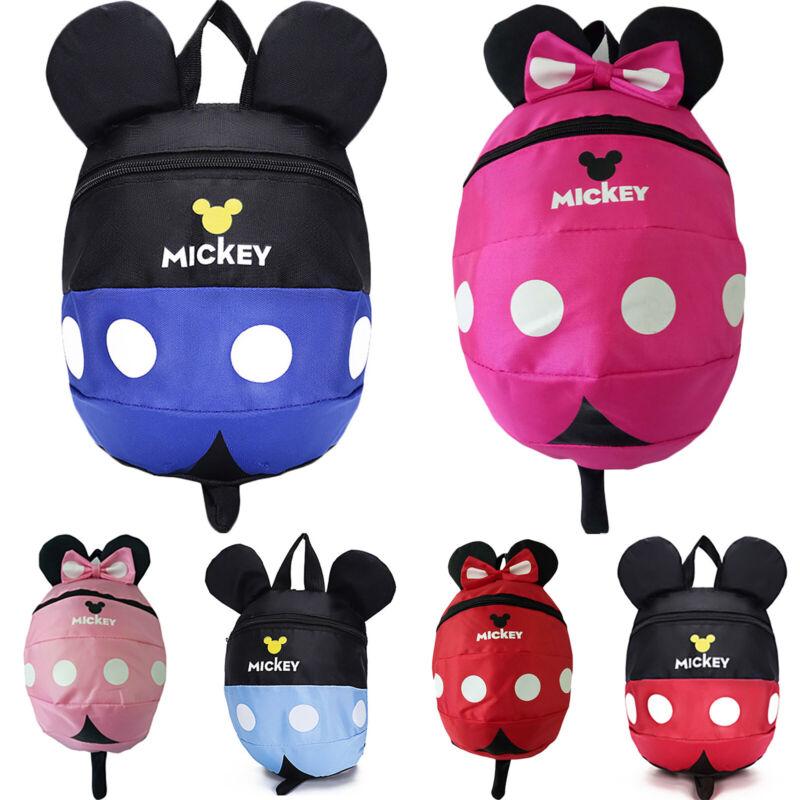 Girls 3D Cartoon Mickey Mouse Kids Boy Backpack Anti-Lost Ru
