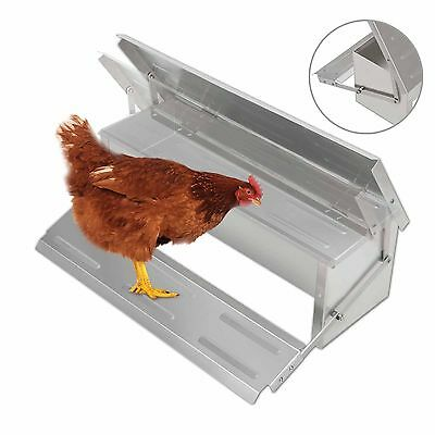 Aluminium Automatic Auto Treadle Self Opening Chicken Feeder Feed Chook Poultry