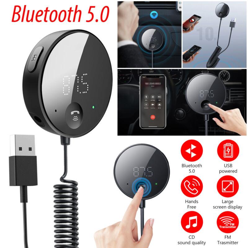 Bluetooth 5.0 FM Transmitter Wireless Radio Adapter Car Kit Mp3 Player Handsfree