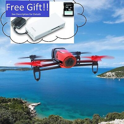 NEW Parrot Bebop Quadcopter Camera Drone 14MP Well-rounded HD 1080p RED + Free Gift!