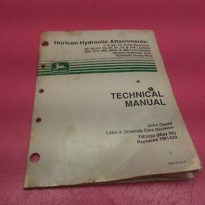 John Deere Backhoes Loaders Front Blades Technical Manual Tm1593 Lt33
