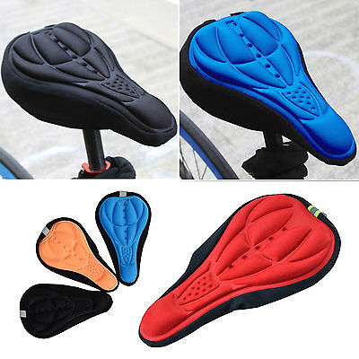 Padded Bicycle Seat Covers (Road Bicycle Mountain Bike Cycling Saddle Seat Cover Gel Silicone Cushion Padded )