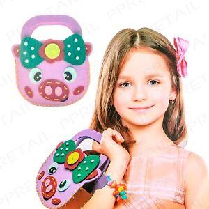 Make Your Own 3D Bag CUTE PIG DESIGN Kids EASY Handbag Sew Craft Sewing FULL KIT