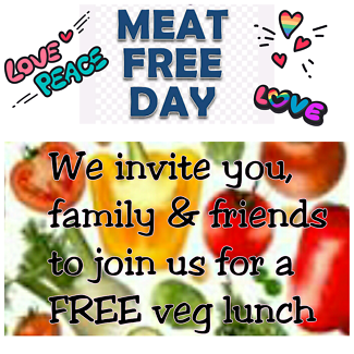 FREE vegie lunch 19th Nov Sunday 12pm - ALL WELCOME