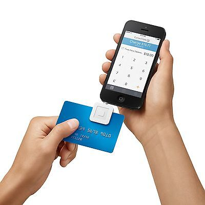 New Square Credit Card Reader For Apple And Android - White