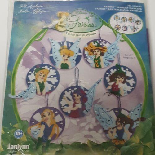 Janlynn Felt Ornaments Sewing Craft Kit Christmas Disney Fairies Tinker Bell NEW