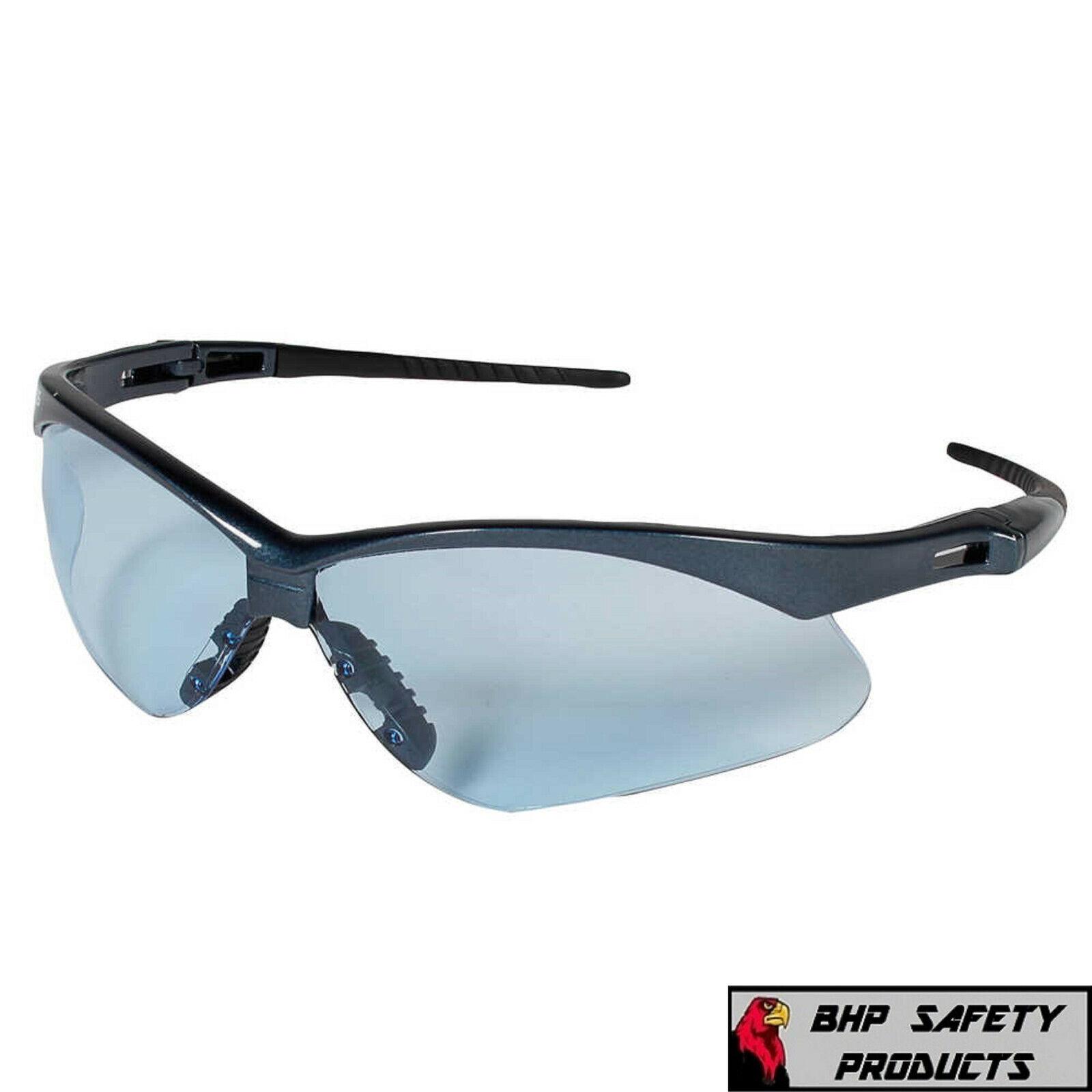 JACKSON NEMESIS SAFETY GLASSES SUNGLASSES SPORT WORK EYEWEAR ANSI Z87 COMPLIANT 19639-Blue Frame/Light Blue Lens