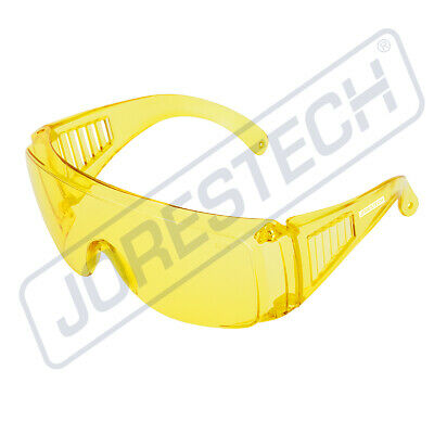 Jores Amber Yellow Lens Safety Fits Over The Night Driving Glasses Uv