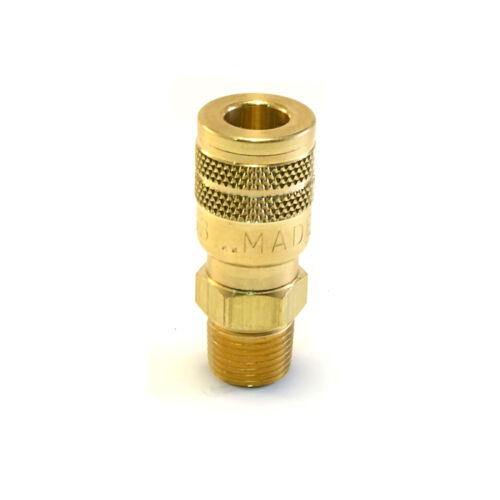 """Foster Quick Connect 3/8"""" Male NPT Air Hose Coupler - Milton M Brass Fittings"""