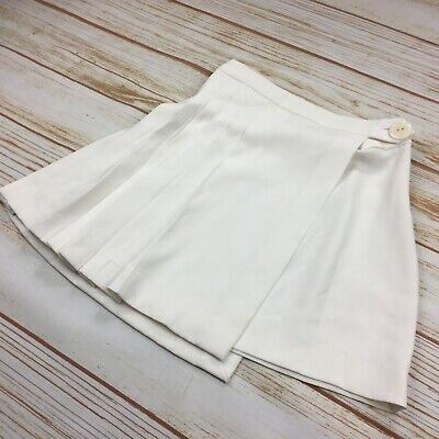 Zara Layered Wrap Skirt Women's Size XS White Pleated A-Line Skater Flare