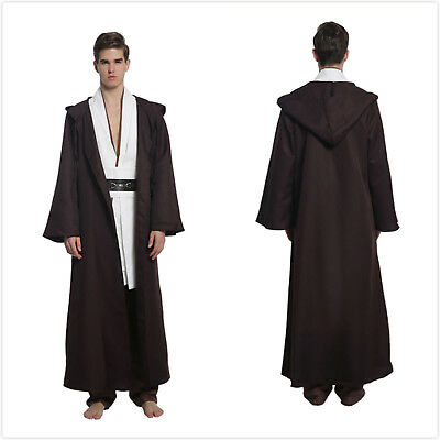 Handmade Star Wars Halloween Costumes (Star Wars Obi-Wan Kenobi Jedi Gown Pants Hoodie cosplay Halloween Carnival)