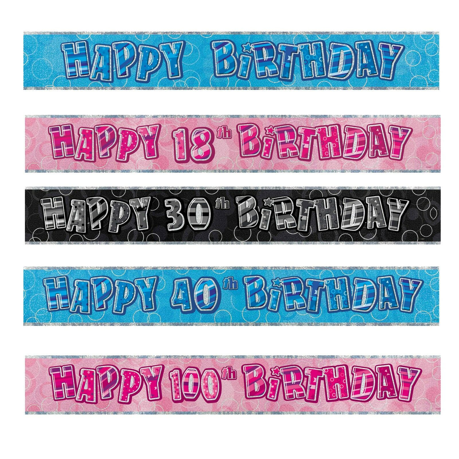 FOIL BANNER Birthday Party BANNERS Milestone Decorations