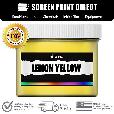 Ecotex Lemon Yellow - Premium Plastisol Ink For Screen Printing - 8oz