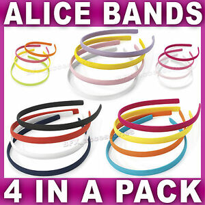 Set-of-4-Alice-bands-headband-aliceband-fabric-head-hair-band-women-girls-school