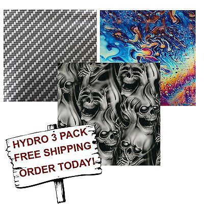 Hydro Dip Hydrographic Film Water Transfer Printing Film Best Sellers 3 Pack