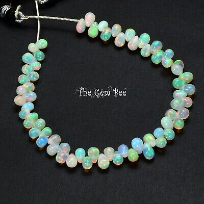 Fine Natural Opal Smooth Full Teardrop Briolette Beads 7.3 inch strand Smooth Briolette Beads