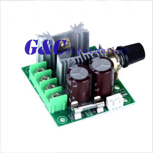10A 12-40V DC Pulse Modulation 13khz PWM Motor Adjuster Speed Control Switch