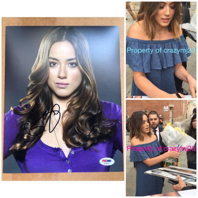 Chloe Bennet Signed Agent of Shield S.H.I.E.L.D. Daisy Skye Autograph PSA COA