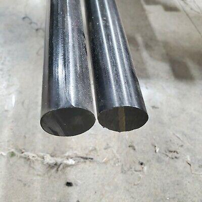 Delrin - Acetal Plastic Rod 1 12 - 1.50 Diameter X 12 Length - Black Color