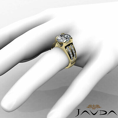 2 Row Channel Prong Setting Oval Diamond Engagement Ring GIA I Color SI1 1.62Ct 9