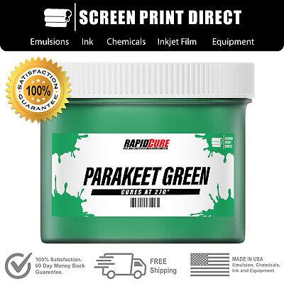 Parakeet Green - Screen Printing Plastisol Ink - Low Temp Cure 270f - 8oz