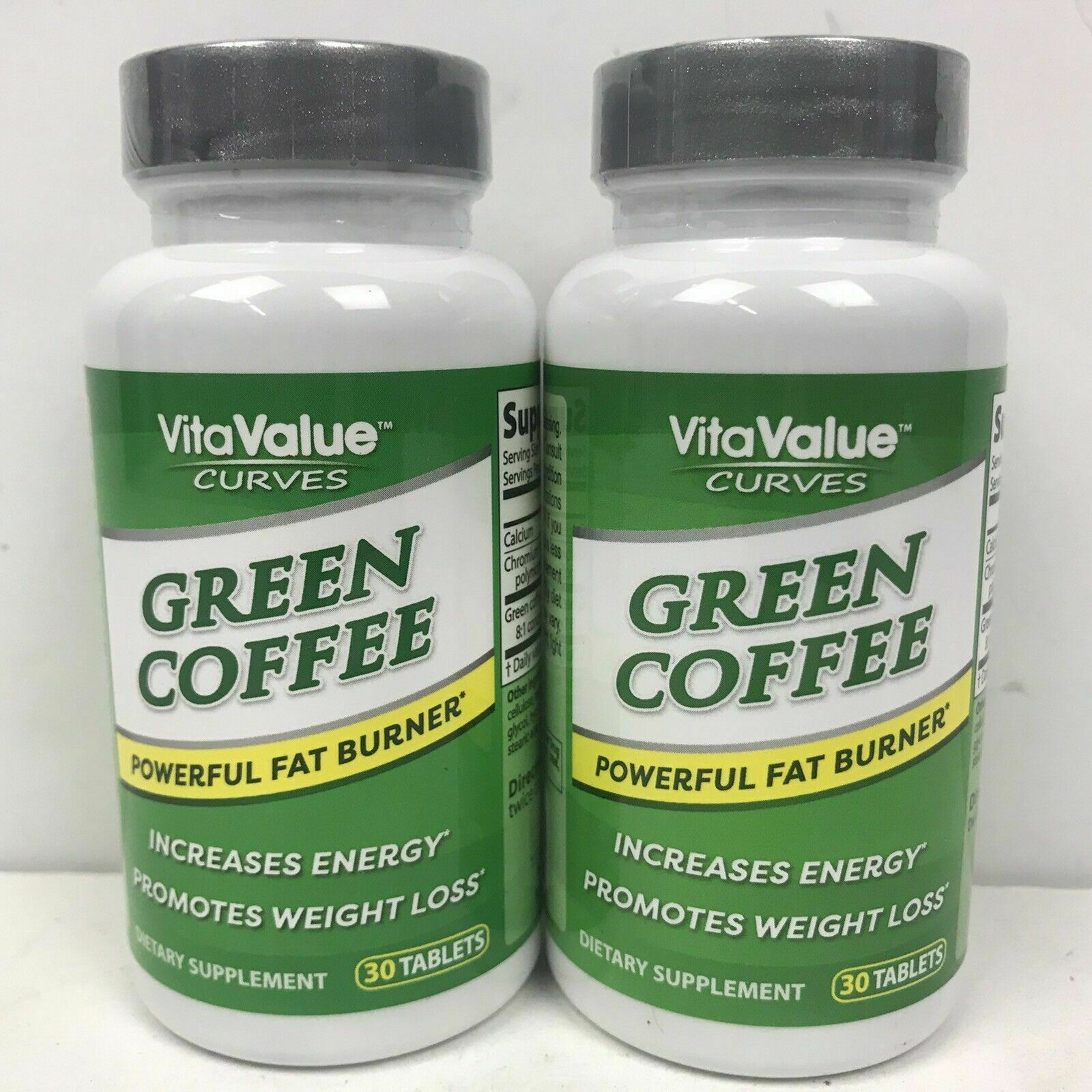 (2) VitaValue Curves Green Coffee Weight Loss Energy Dietary Supplement 4/21
