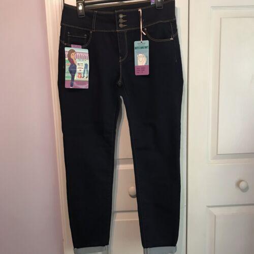 Wax Jean Womens Juniors 13 Butt I Love You Skinny Crop Dark