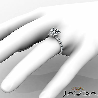 2 ct Halo Pave Heart Diamond Engagement Brilliant Ring 14K White Gold F SI1 GIA 4