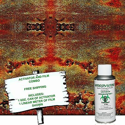 Hydrographic Film Water Transfer Hydro Dip 6oz. Activator Rusted Out Dip Kit