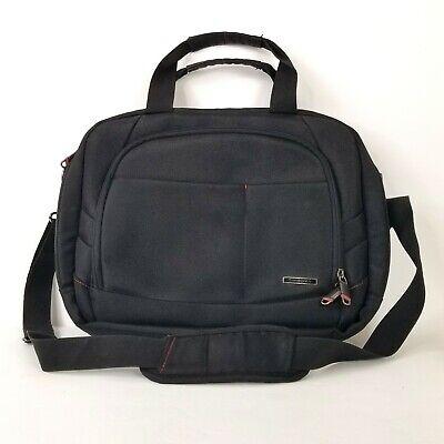 """Samsonite Black 2 Gusset 17"""" Laptop Bag Detachable Padded Shoulder Strap"""