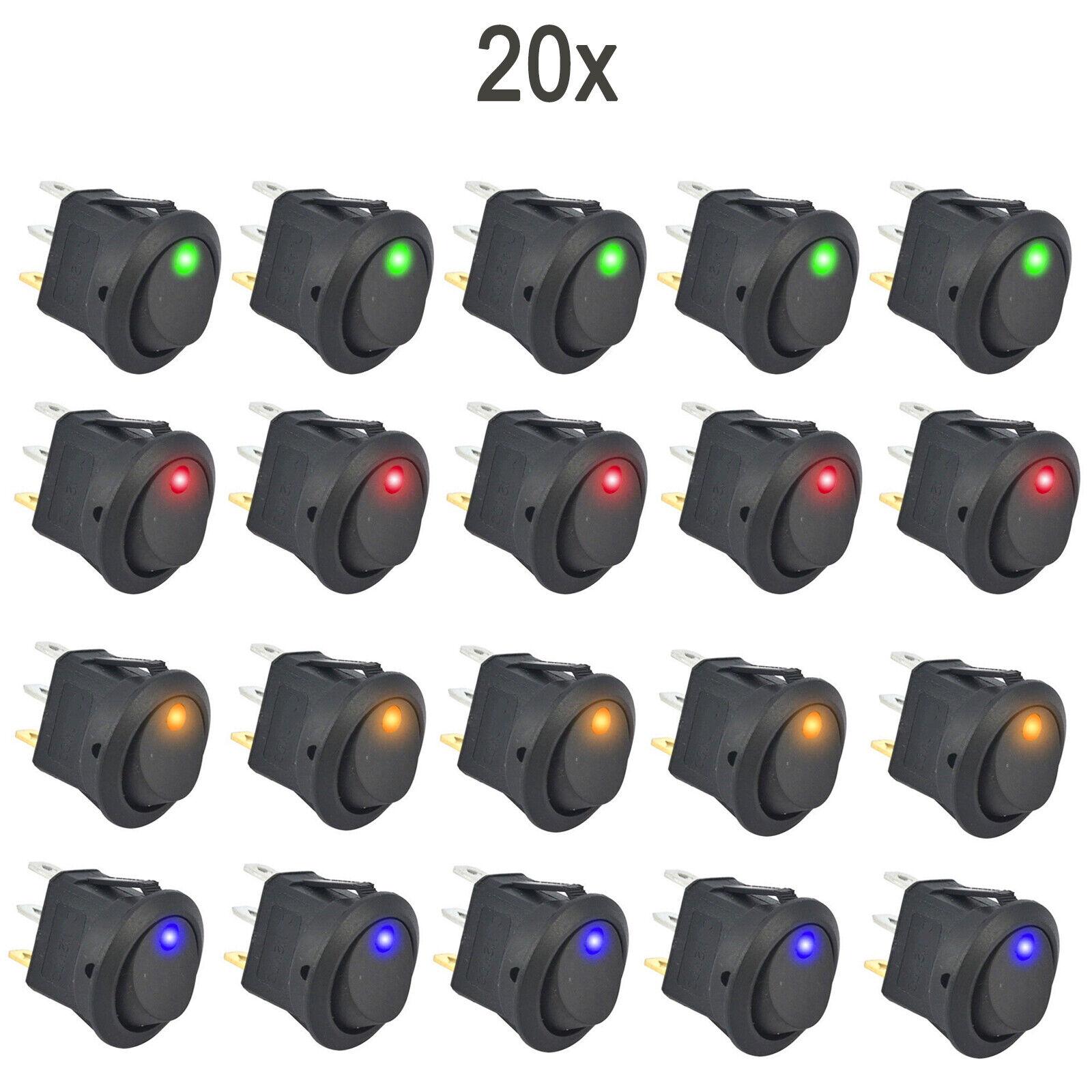 KFZ Kippschalter Wippschalter beleuchtet EIN//AUS 3 PIN 12V LED Kontrollleuchte