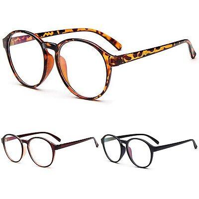 Groß Oval Rund Klar Linse Mode Qualität Geek Retro Stil Brille