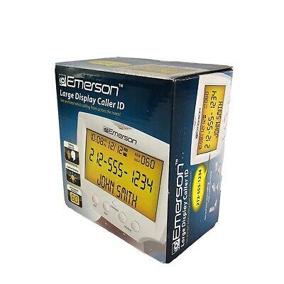 Emerson EM60 Large Jumbo Display Talking Caller ID Box With 60 Numbers (Emerson Em60 Large Display Talking Caller Id)