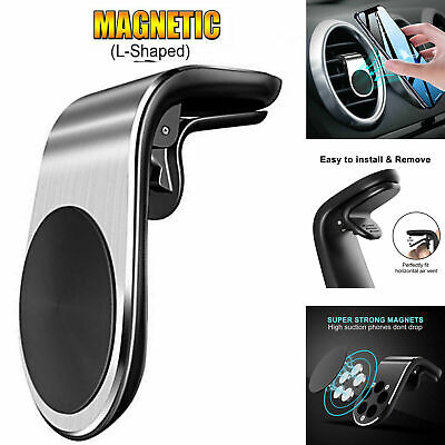 Universal Magnetic Car Phone Holder Air Vent Mount Bracket Clip For Mobile Phone
