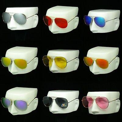 Sunglasses aviator metal frame new men women hipster retro vintage lens blocking