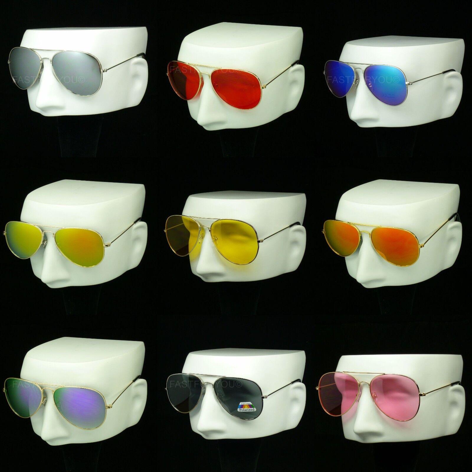 Sunglasses men women aviator metal frame new hipster retro v