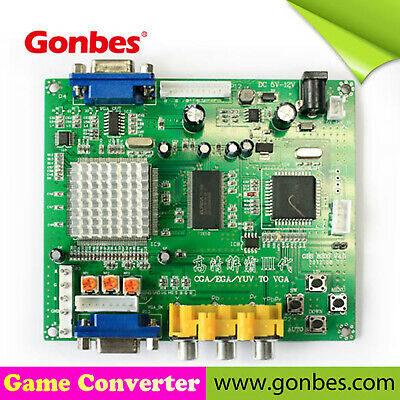 Gonbes GBS-8200 CGA (15kHz)/EGA (25kHz) Arcade JAMMA PCB to VGA Video Converter